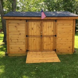 Build to Order Shed (stained)
